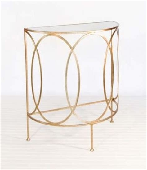 half circle side table antoine gold leaf half round console contemporary side