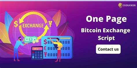 Our online guides cover everything crypto, from getting starting to trading efficiently. Onepaged Bitcoin Exchange Script - Coinjoker in 2020 | Bitcoin, Cryptocurrency trading, Free ...