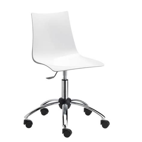le de bureau blanche chaise de bureau roulante le monde de léa