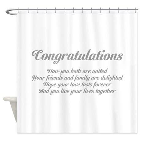 wedding congratulations poem shower curtain  saqtalarlia