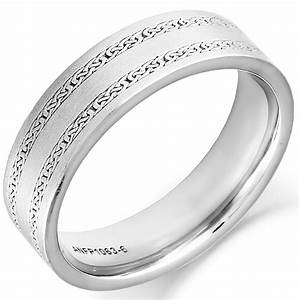 Irish Wedding Ring Mens Gold Twin Celtic Knot Wedding