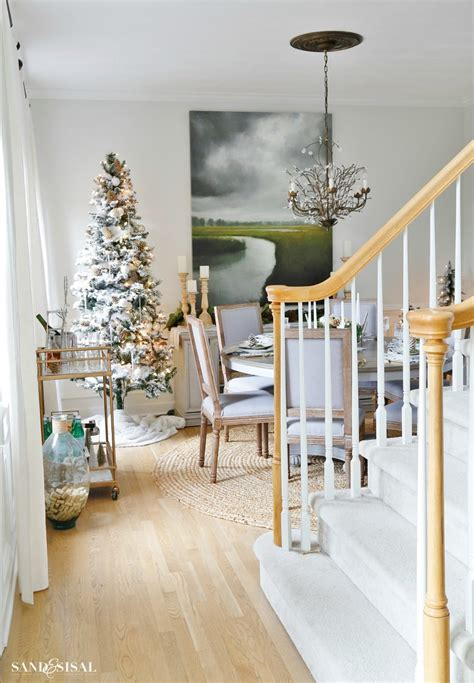 Rustic Glam Christmas Dining Room  Sand And Sisal