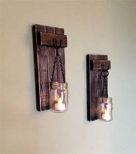 rustic wall decor wall sconce wooden sconce wooden candle With candle wall decor