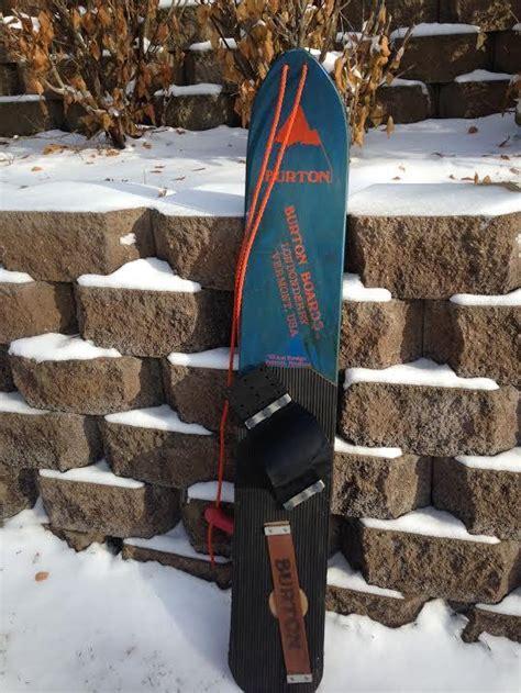 vintage burton  backhill bb snowboard vintagewinter