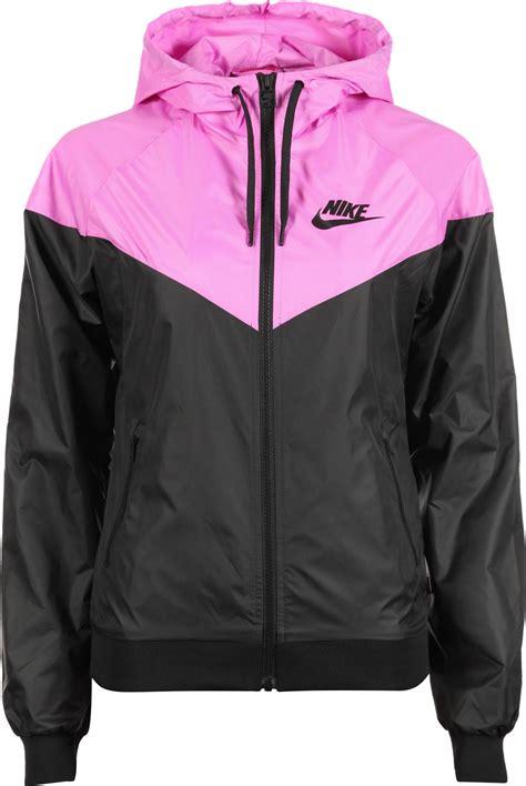 nike light pink windbreaker nike windrunner w jacket black pink