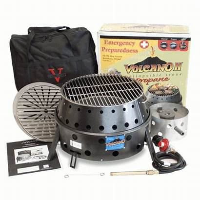 Propane Biscuits Volcano Grill Way Easy Charcoal