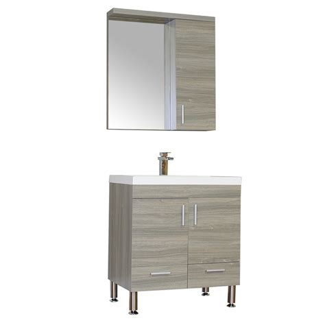 "ALYA AT 8085 G 30"" Single Modern Bathroom Vanity   Gray"