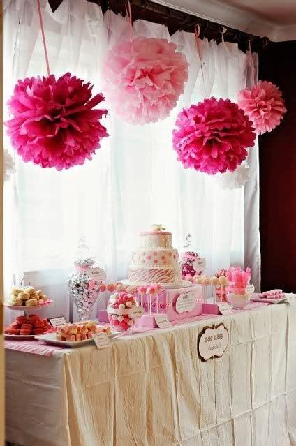 bapteme rose pour les couleurs  la table bapteme