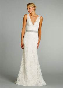 simple wedding dress with v neckcherry marry cherry marry With v neck lace wedding dress