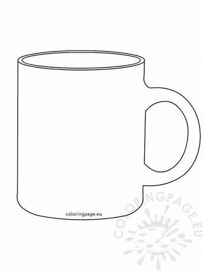 Mug Coffee Template Coloring Cup Chocolate Templates