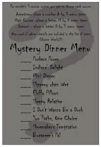 Mystery Dinner Menu Ideas