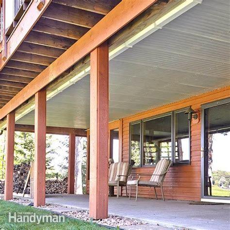 diy deck ceiling deck roof the family handyman
