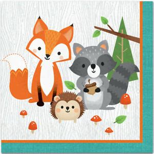 Wild One Woodland Animals Birthday Party Supplies Large