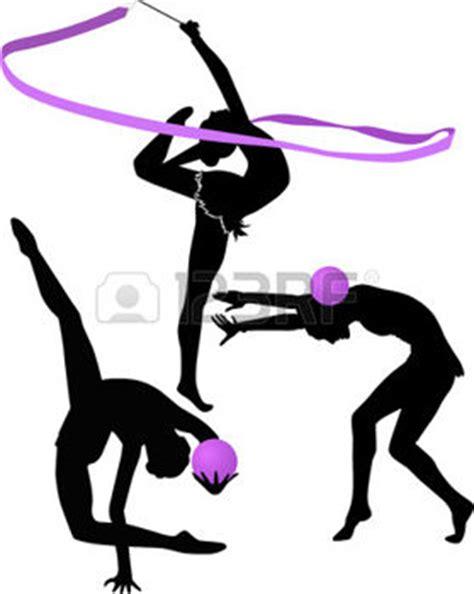 pochoir chambre gymnastique rythmique illustration gymnaste silhouette