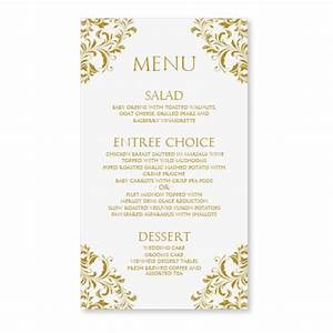 wedding menu card template download by diyweddingtemplates With free printable wedding menu card templates