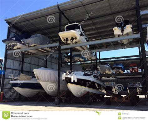 Boat Club Storage by Boat Storage Stock Image Image Of Transport Tour