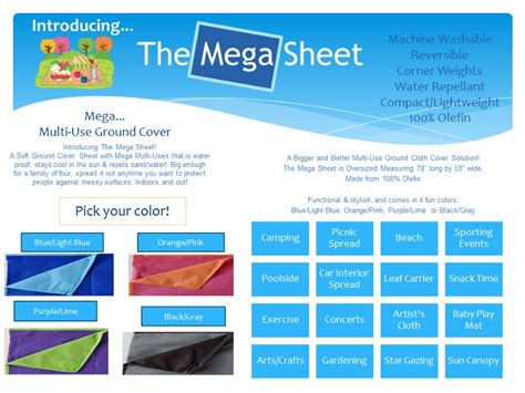 Neat Sheet Mega Ground Cover Blanket Color Choice Beach