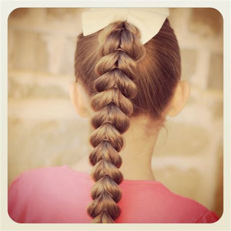pull  braid easy hairstyles cute girls hairstyles