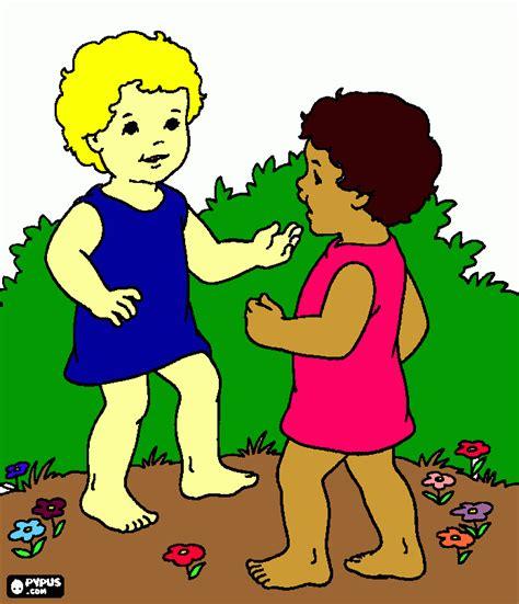 what color is dos niñas habla para colorear dos niñas habla para imprimir