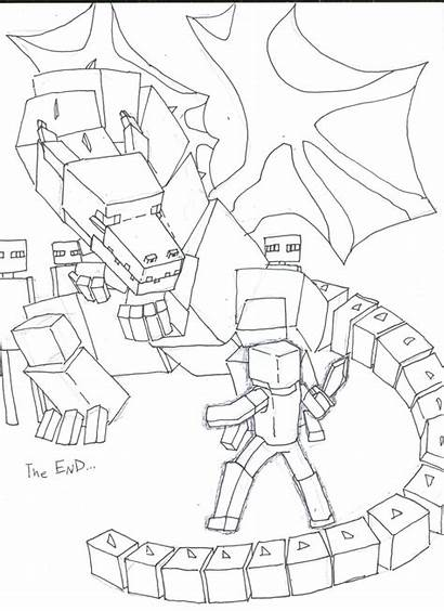 Minecraft Coloring Pages Enderdragon