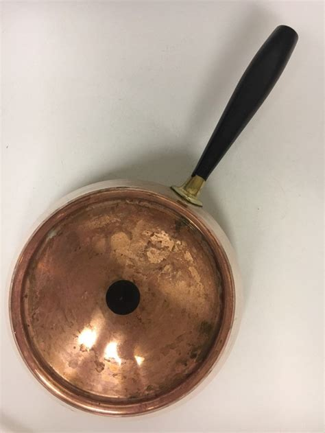 spring culinox switzerland copper fondue pot vintage etsy