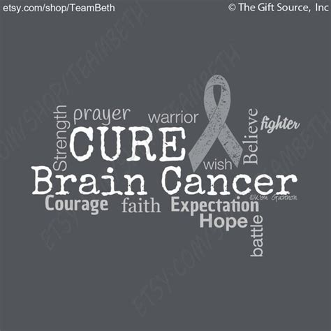 brain cancer awareness color cancer awareness brain cancer tumor word cloud tshirt grey