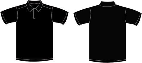 kaos tshirt hitam baju polo polos clipart best