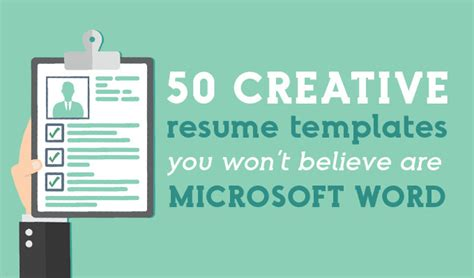 How To Create A Creative Resume In Word by 50 Creative Resume Templates You Won T Believe Are