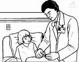 Doctor Coloring Doctors Jobs Kb sketch template