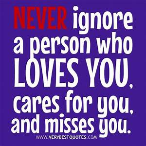 ignoring quotes and images | Never ignore a person who ...