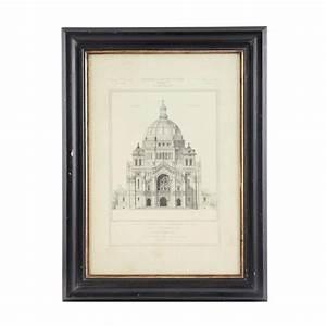 Cadre 60 X 80 : cadre en bois noir et dor 60 x 80 cm cath drale ~ Teatrodelosmanantiales.com Idées de Décoration