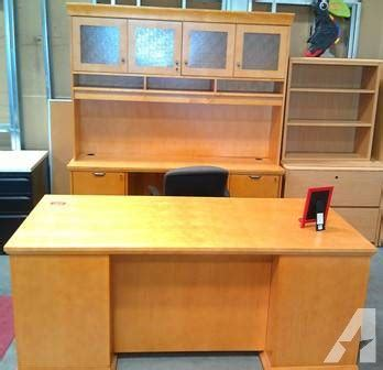 Office Desk Las Vegas by Used Executive Desk Unit By National Office Products For