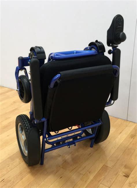 heavy duty fold  electric wheelchair blue