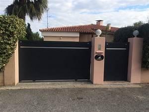 Portail Sur Mesure : portail aluminium sur mesure azur domotic ~ Melissatoandfro.com Idées de Décoration