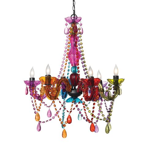 12 photo of coloured chandeliers