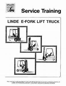 Linde Type 322  323  324  E10  E12  E14  E15  E15s  E16