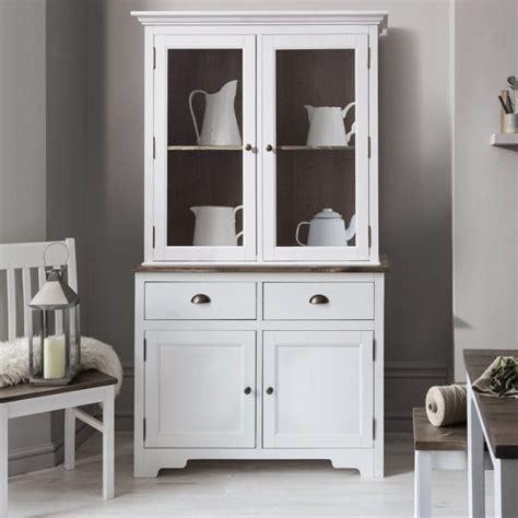 canterbury dresser cabinet  glass door  white noa