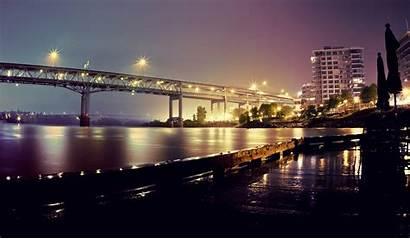 Portland Oregon Wallpapers Bridges Bridge Screensavers Night