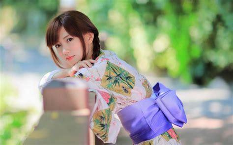 Beautiful Japanese girl, kimono, summer wallpaper   girls ...