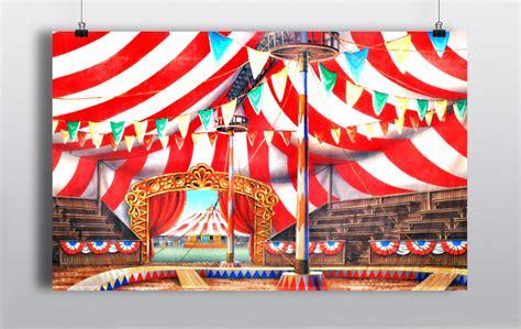 tropical themed circus backdrop