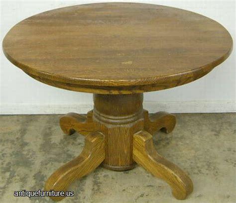 antique oak pedestal dining room table at antique