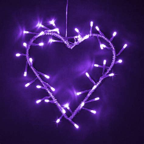 purple led lights silver metal purple led garland wreath