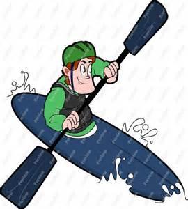 Cartoon Kayak Clip Art