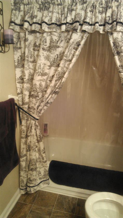 made to order custom shower curtain with valance and by