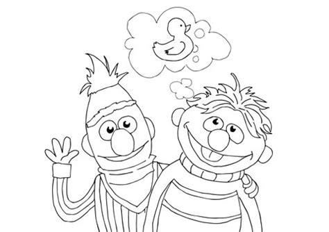 bert ernie  rubber duckie coloring page supercoloringcom