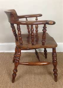 a yew wood captains chair c 1880 250175 sellingantiques co uk