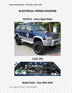 Toyota Hilux Toyota 4runner Wiring Diagram Tire  Png