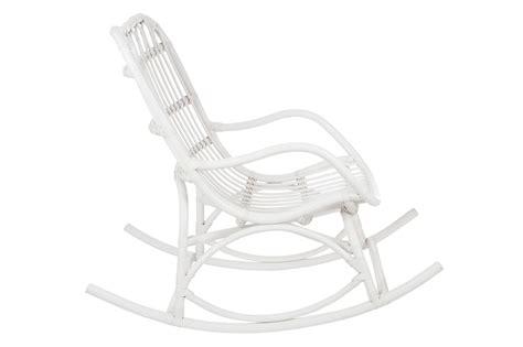 fauteuil 224 bascule bambou et rotin blanc jolipa 61391
