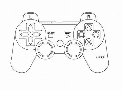 Controller Outline Console Playstation Clip Xbox Ausmalbilder
