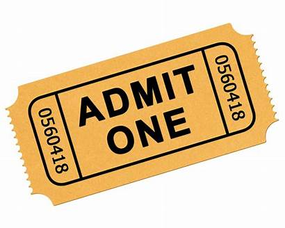 Ticket Tickets Transparent Clip Clipart Admission Raffle